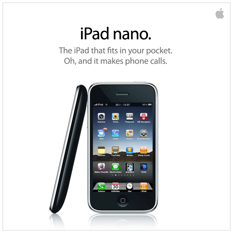 Das iPad Nano - ab sofort erhältlich!