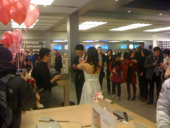 Hochzeit im Apple-Store
