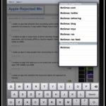 Google Suggestion auf dem iPad