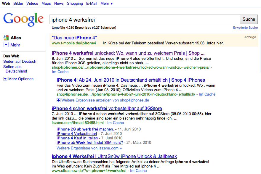 iPhone 4: Deutsche Telekom/T-Mobile wirbt bereits