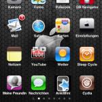 Kleinerer Icons dank Shrink und 5 Icons im Dock dank FiveIconDock