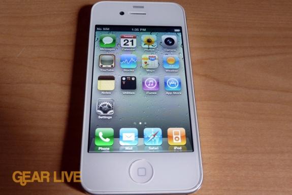 Wann kommt das weiße iPhone 4? (Foto: Gear live)