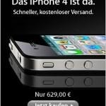 Apple verkauft das iPhone 4 in Deutschland ohne Simlock