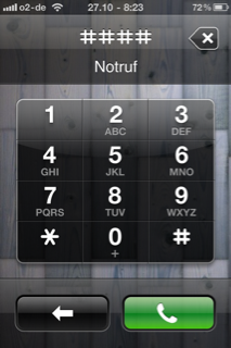 Die Notruflücke beim iPhone iOS 4.1
