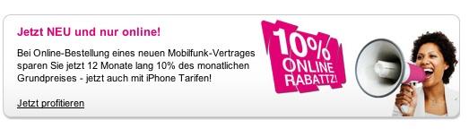 iPhone 4 bei o2 und Vodafone: Telekom reagiert mit 10 Prozent Rabatt (Foto: Deutsche Telekom)