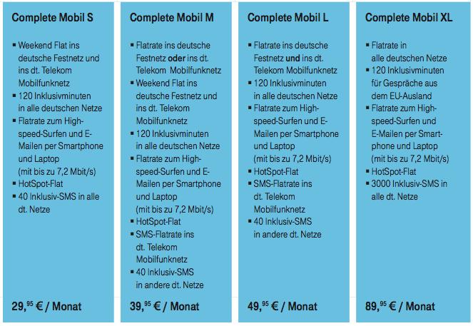 Deutsche Telekom bietet neue Mobilfunktarife ab November 2010