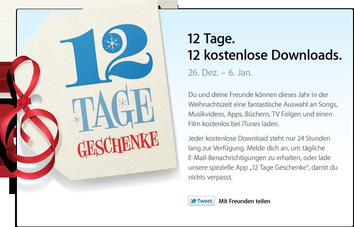 12 Tage - 12 Geschenke bei iTunes