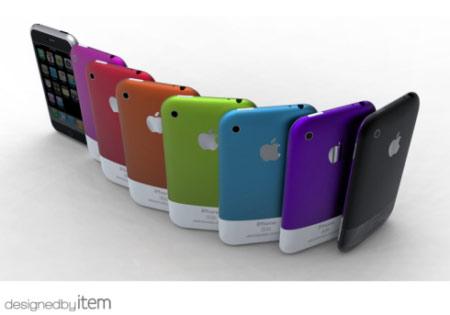 iPhone 5 Konzept: Verschiedene Farben