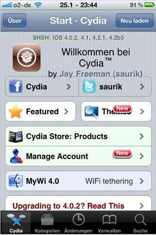 Cydia Update: Einloggen, Backup und mehr