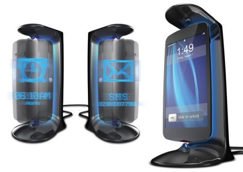 Konzept für ein neues und schwebendes iPhone 5