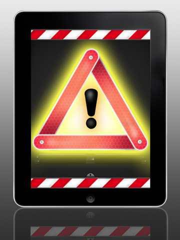Das Warndreieck für das iPad