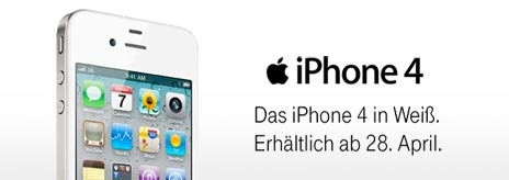 Weißes iPhone 4 ab 28. April bei T-Mobile erhältlich