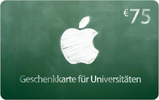 Back to School: 75 Euro Guteschein für iTunes