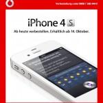 Das iPhone 4S bei Vodafone vorbestellen