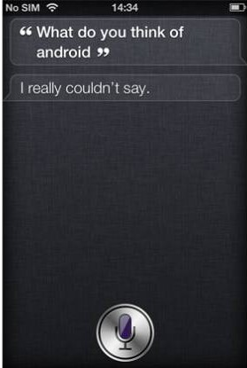 Witzige Frage an Siri (iPhone 4S): Android