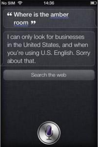 Witzige Frage an Siri (iPhone 4S): Bernsteinzimmer