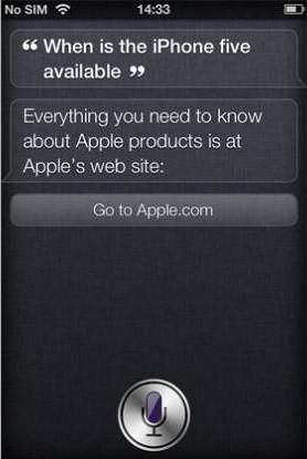 Witzige Frage an Siri (iPhone 4S): Wann kommt das iPhone 5