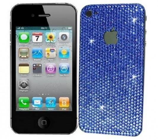 iPhone 4 mit Swarovski-Kristallen