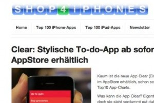 Shop4iPhones-Preview: Startseite