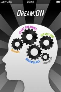 DreamOn: Träume mit App verschönern: Startscreen