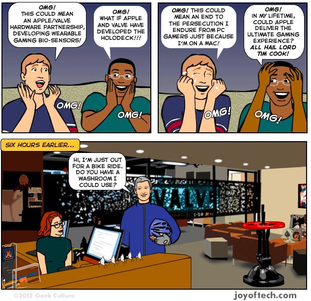 Apple war nie bei Valve!