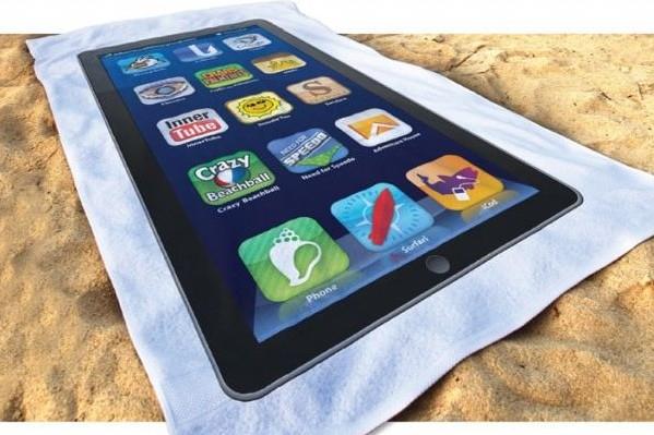 Shop4iPhones-Hauptthema: iTowel: Das Handtuch im iPhone-Design