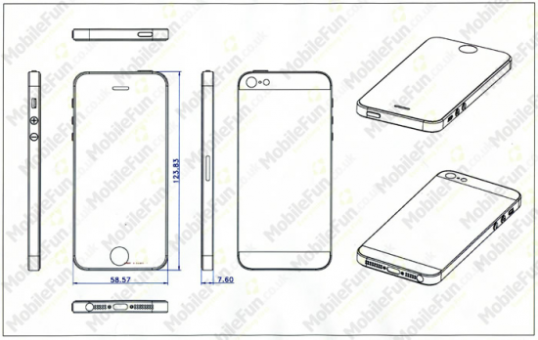 Apple iPhone 5 Konzeptzeichnung