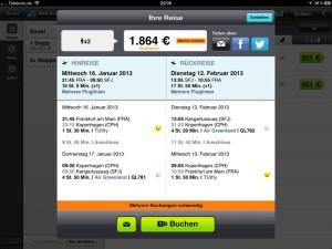 Skyscanner-App: Reise buchen